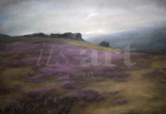 What Type Of Oil >> Cow and Calf, Ilkley Moor Original Painting by Judith Levin