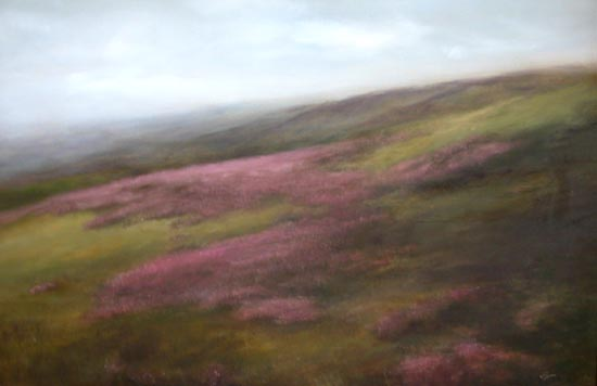 Ilkley Moor Heather Original Painting By Judith Levin